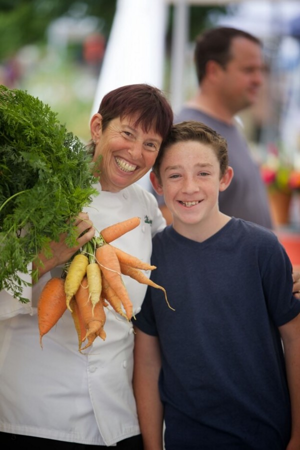 Chef Ann Cooper with student. Credit: Chef Ann Cooper Foundation.